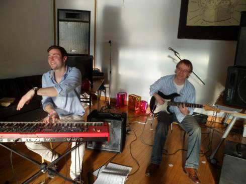 Parker on keys and Finney on guitar