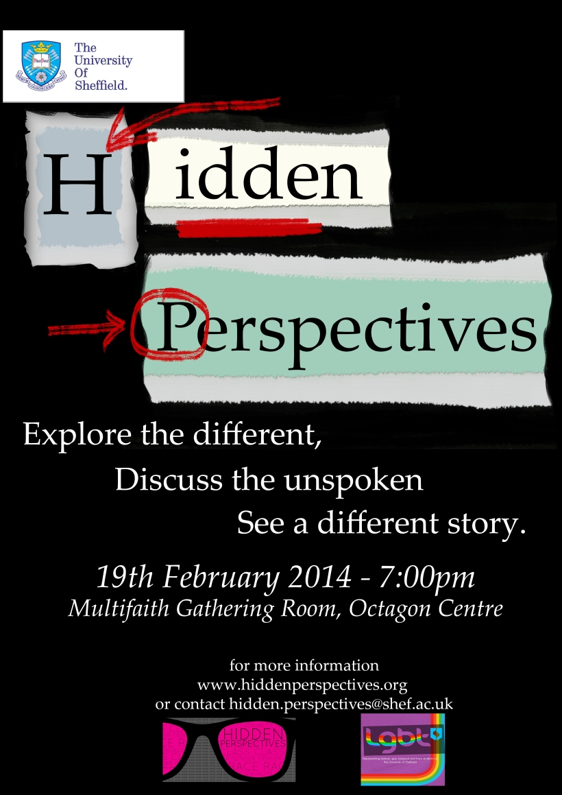 Hidden Perspectives LGBT & Faith Discussion Group Poster